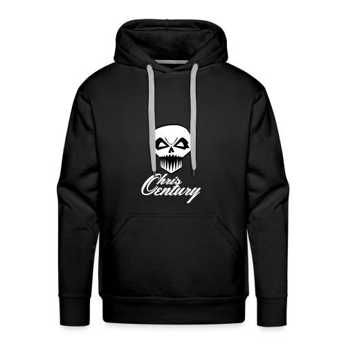 logo Chris Century blanc - Sweat-shirt à capuche Premium pour hommes
