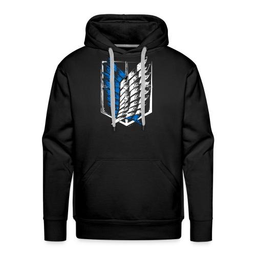 Logo Attack On Titan Brigade d'exploration - Sweat-shirt à capuche Premium pour hommes
