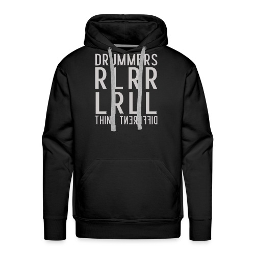 Drummers think different - Drummer T-Shirt - Männer Premium Hoodie