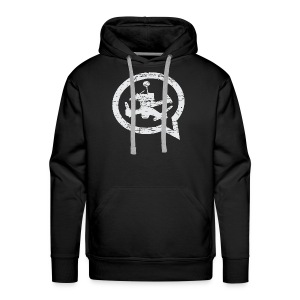 QUAD TALK DISTRESSED LIGHT - Men's Premium Hoodie
