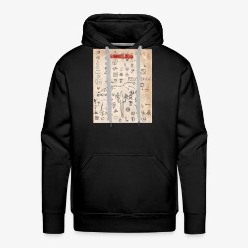Gráfico de símbolos universales - Sudadera con capucha premium para hombre