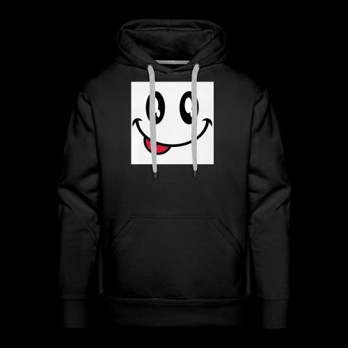 augen-smiley-zunge-t-shirts-maenner-premium-t-shir - Männer Premium Hoodie