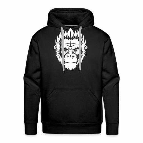 gorilla white - Sweat-shirt à capuche Premium pour hommes