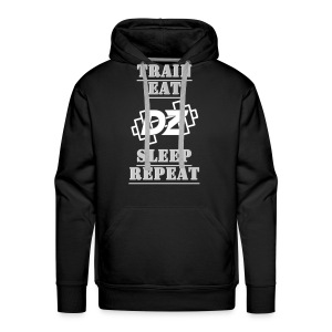 Train, Eat, Sleep, Repeat - Trainingsmotivation - Männer Premium Hoodie