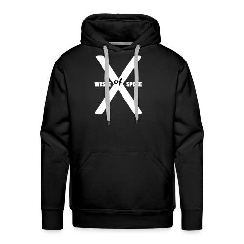 Waste of Space Logo black and white - Premium hettegenser for menn