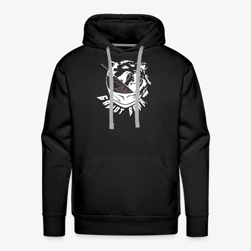 Galiot Bear Logo weiß - Männer Premium Hoodie