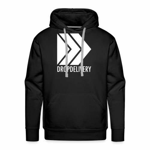 DropDelivery Main Collection - White - Männer Premium Hoodie