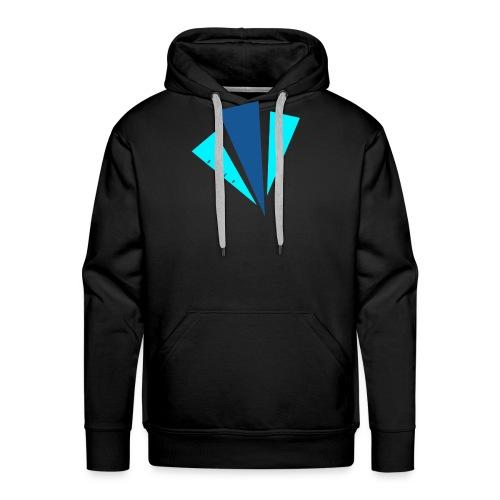 Blauwe objecten ontwerp - Mannen Premium hoodie