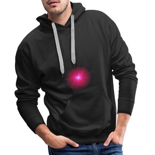różowe promienie - Bluza męska Premium z kapturem