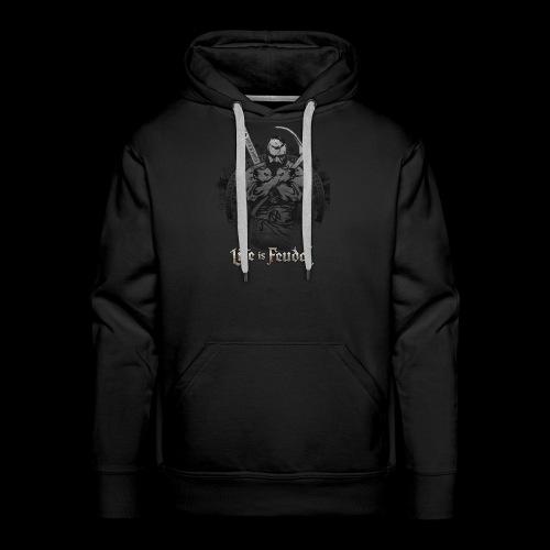 Life is Feudal Steam Badge 1 - Sweat-shirt à capuche Premium pour hommes