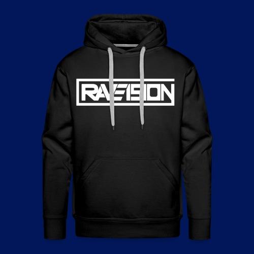 Raveision logo white - Männer Premium Hoodie