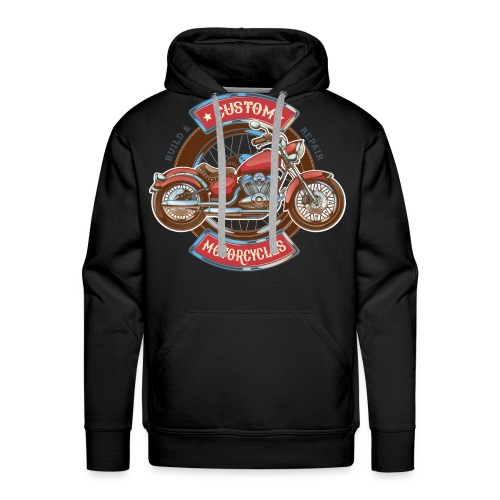 Custom Motorcycles - Sudadera con capucha premium para hombre