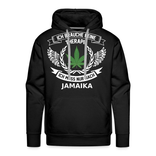 Jamaica Hanfblatt T-Shirt Urlaub - Männer Premium Hoodie