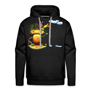 Robot with his plant friends - Mannen Premium hoodie