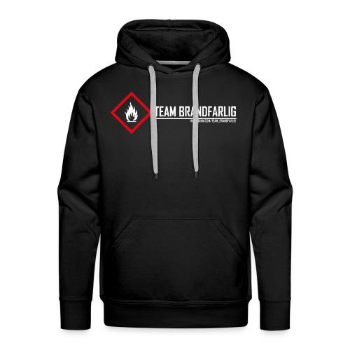 Team Brandfarlig vit - Premiumluvtröja herr