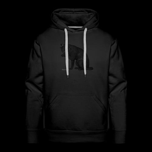 chat noir élégant - Sweat-shirt à capuche Premium pour hommes