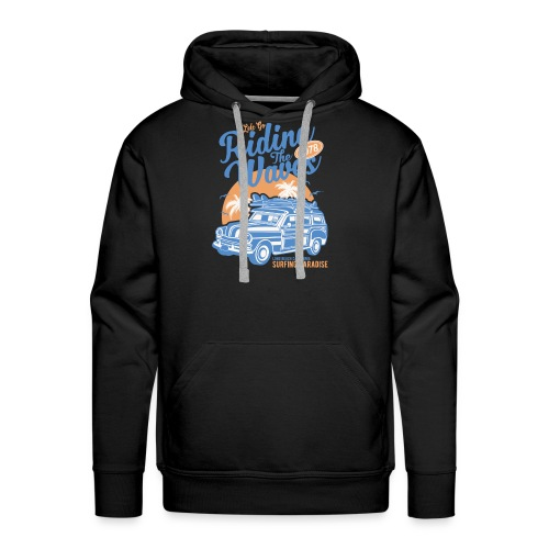 Riding The Waves Vintage Style - Men's Premium Hoodie