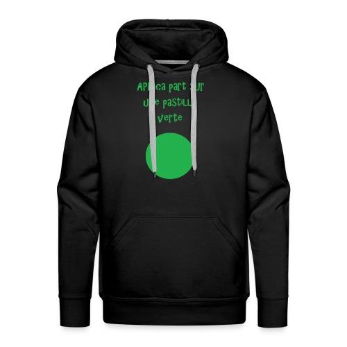 Pastille verte - Sweat-shirt à capuche Premium pour hommes