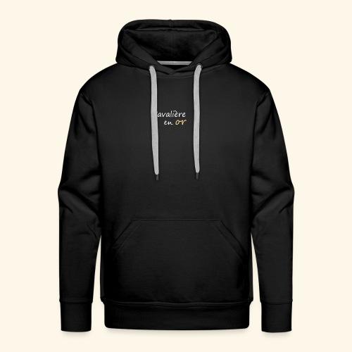 Cavalière en or - Sweat-shirt à capuche Premium pour hommes