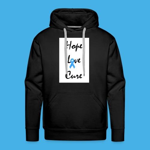 hope love cure hd - Men's Premium Hoodie