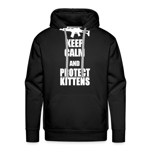 Keep Calm and Protect Kittens - Männer Premium Hoodie