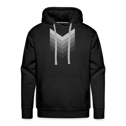 Chevrons gris - Sweat-shirt à capuche Premium pour hommes