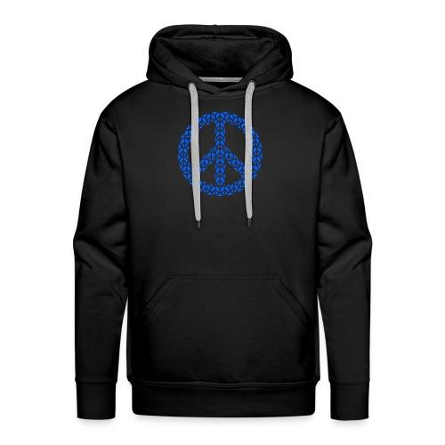 Peace Zeichen in blau - Männer Premium Hoodie