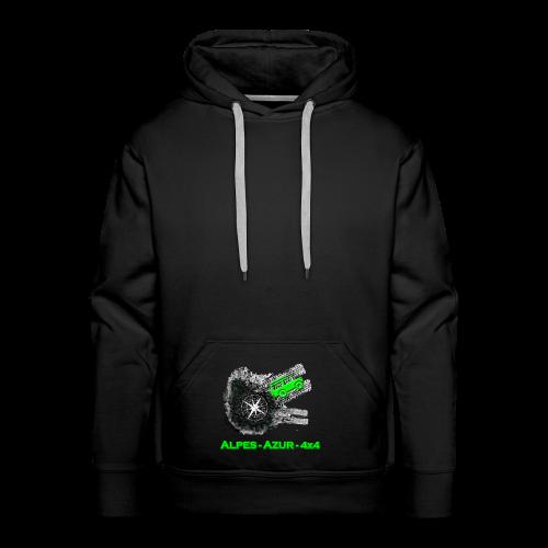 logo ALPES-AZUR-4X4 - Sweat-shirt à capuche Premium pour hommes