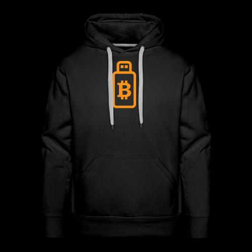 Bitcoin USB-stick / hardware-portemonnee - Mannen Premium hoodie