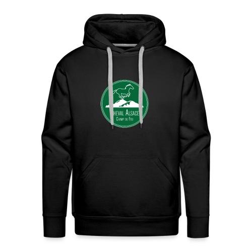 CHEVAL ALSACE- logo - Sweat-shirt à capuche Premium pour hommes
