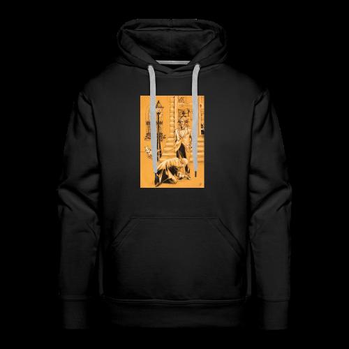 design pour homme, homme en costume avec son chien - Sweat-shirt à capuche Premium pour hommes