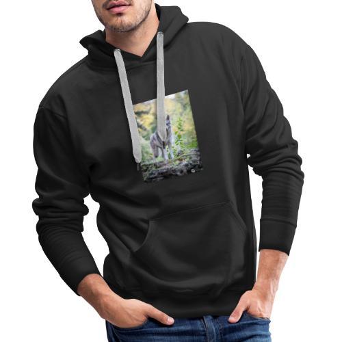 La Tanière des Chiens-Loups - Sweat-shirt à capuche Premium pour hommes