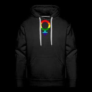 Gay pride regenboog vrouwen symbool - Mannen Premium hoodie