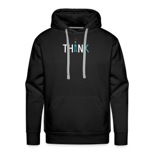 Slim, fit and thin, think being thin and healthy - Men's Premium Hoodie