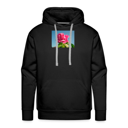 rose - Sweat-shirt à capuche Premium pour hommes