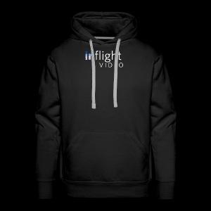 inflight Video White Logo - Men's Premium Hoodie