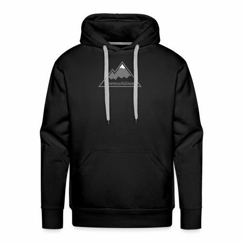 Lonemountaineer logo wht - Men's Premium Hoodie