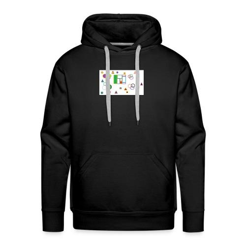 Geometric Figures - Sudadera con capucha premium para hombre