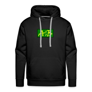 AtoB Logo green / yellow - Men's Premium Hoodie