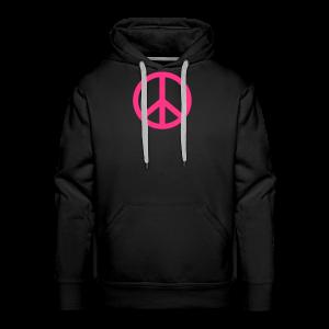 Gay pride peace symbool in roze kleur - Mannen Premium hoodie