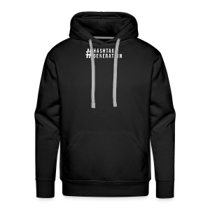 Hashtag generation logo final white - Men's Premium Hoodie
