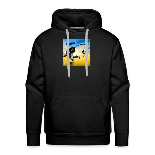 logo passion fishing - Sweat-shirt à capuche Premium pour hommes