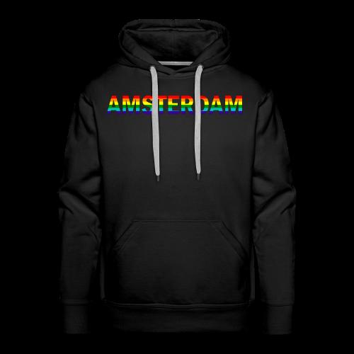 Amsterdam in gay pride rainbow kleuren - Mannen Premium hoodie