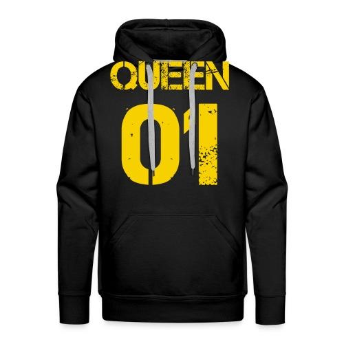 Queen - Bluza męska Premium z kapturem