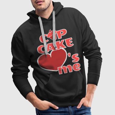 Apelmaza la magdalena me ama divertido, me encanta - Sudadera con capucha premium para hombre