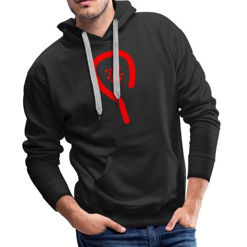 raquette rouge - Sweat-shirt à capuche Premium pour hommes