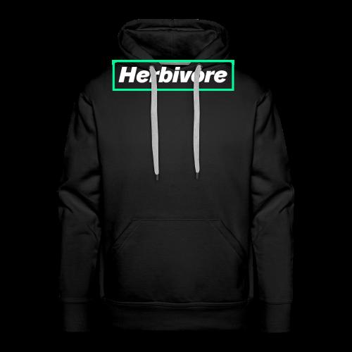 Herbivore Logo White - Felpa con cappuccio premium da uomo