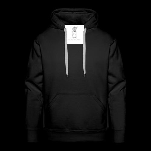 l'amour est mort - Sweat-shirt à capuche Premium pour hommes