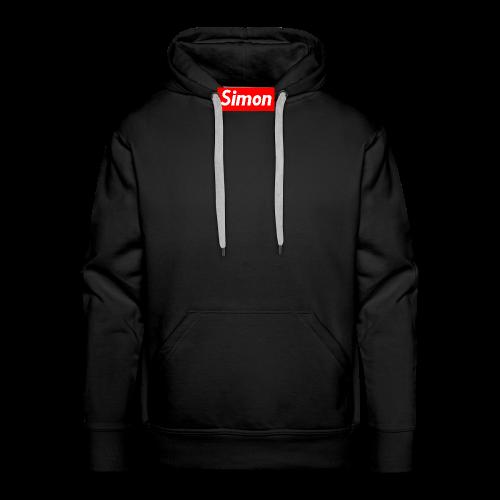 simon - Felpa con cappuccio premium da uomo