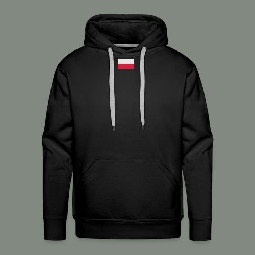 FLAGA POLSKI - Bluza męska Premium z kapturem